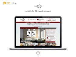 Дизайн сайта для компании GlassGood