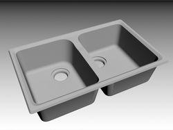 Ряд кухонных моек разработанных в 3D формате