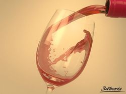 Realflow - Wine in glass