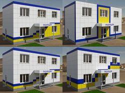 Дизайн фасада полицейских участков