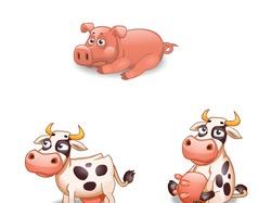 Анимации для свиньи и коровы 2013