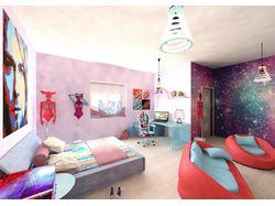 спальня поп-арт