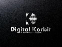 """Логотип компьютерного центра """"Digital Korbit"""""""