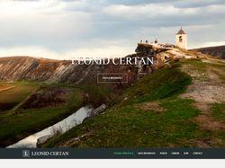 Сайт-визитка для молдавского поэта Leonid Certan