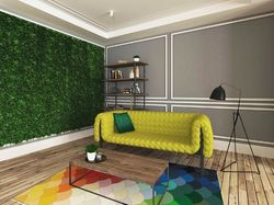 Квартира с желтым диваном
