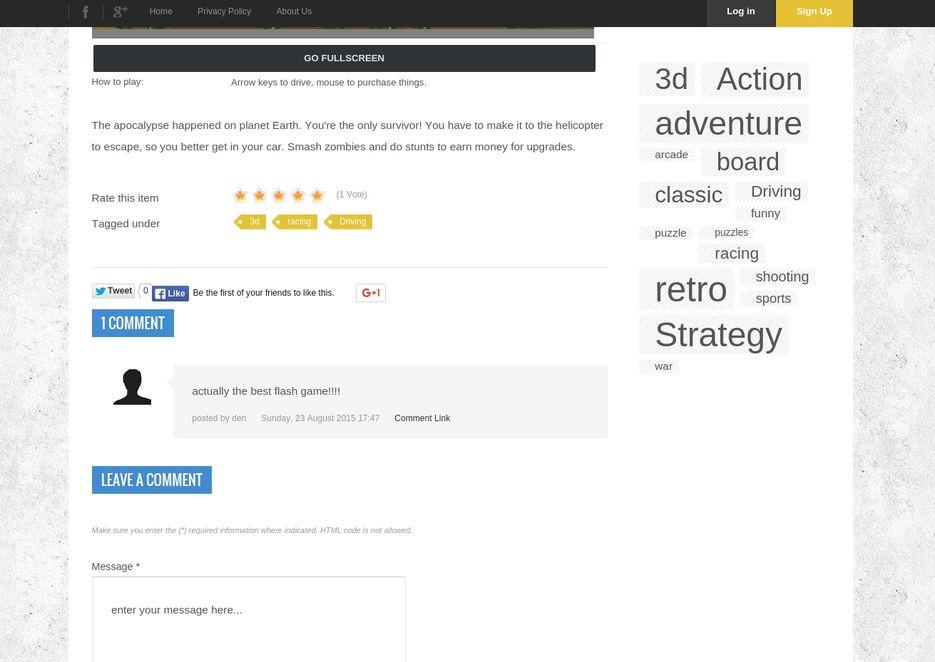 Сайт - Отзывы/рейтинг игры