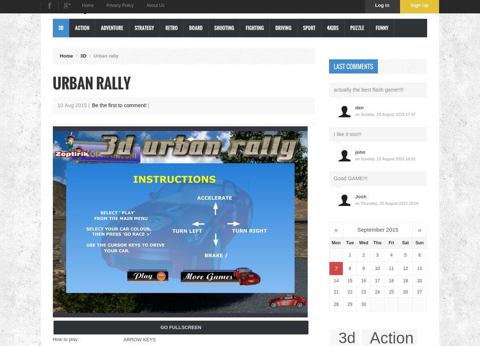 "Сайт - Игра ""Urban Rally"""