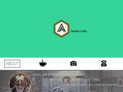 Alendo cafe - landing page