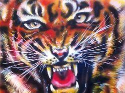 Тигр. Этюд