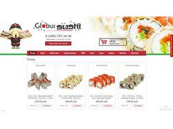 Сайт суши-магазина