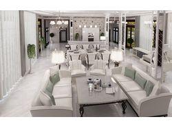 Проект дизайна гостинной элитного дома