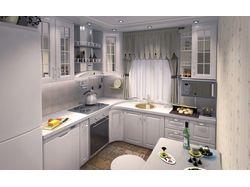 Дизайн кухни с переносом мойки в зону окна