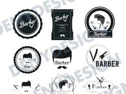 Логотипы/значки/эмблемы для BARBERSHOP