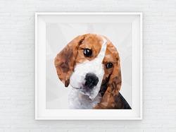 Poster Polygon Beagle