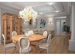 Визуализация квартиры в классическом стиле. Киев