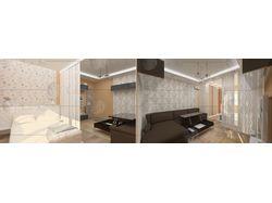 Интерьер трёхкомнатной квартиры