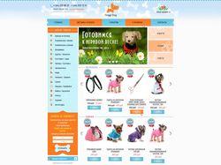 Дизайн интернет-магазина одежды для собак
