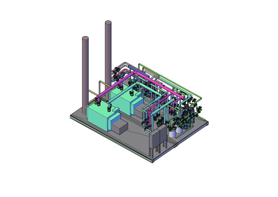 Одна из работ. Крышная блочно-модульная котельная мощностью 1,4 МВт 3D модель