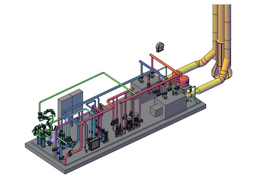 Одна из работ. Блочно-модульная котельная мощностью 0,7 МВт 3D модель