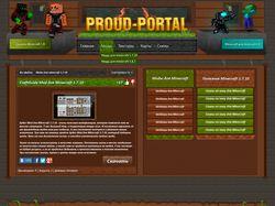Дизайн minecraft сайта