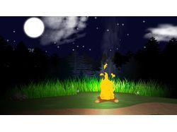 Анимация ночного леса