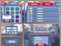 Дизайн окон мобильной игры