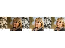 Общая коррекция стока фотографий + фотошоп