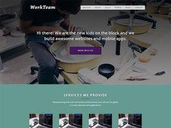 WorkTeam Landing - адаптивная Wordpress тема