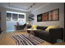 Квартира с британской тематикой