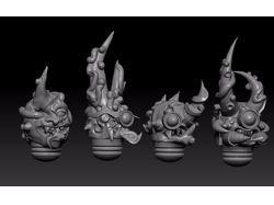 Разные детали от миниатюр - персонажей