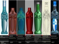 Полный цикл создания твёрдотельной модели бутылки