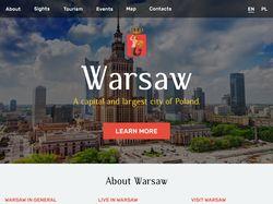 Warsaw - сайт-визитка города Варшавы
