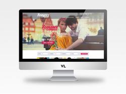 Уникальный дизайн сайта знакомств Romance Compass