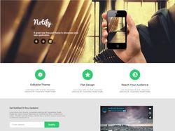 Вёрстка Landing Page для мобильного приложения