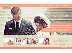Сайт визитка фотографа PSD