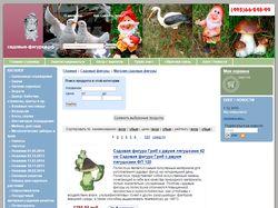 Наполнение интернет-магазина садовых фигур