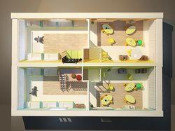 Дизайн проект частного детского сада