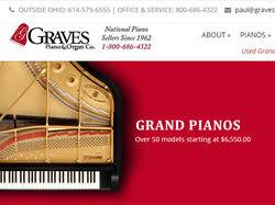 Лендинг для сайта Grave's Pianos