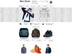 Дизайн интернет-магазина мужской одежды
