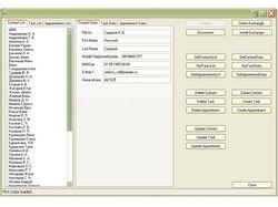 Модуль обмена данными с Pocket Outlook КПК