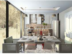 Эскизный дизайн- проект кухни. Частный дом.