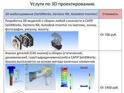 Услуги по 3D проектированию и созданию чертежей.