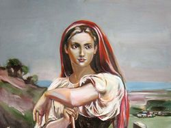 Жница. Копия с работы У. Бугро