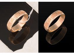 Обработка фото ювелирных изделий. Кольцо.