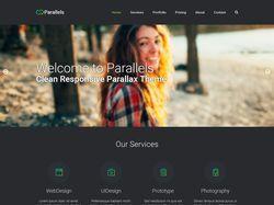 Одностраничник студии веб-дизайна Parallels