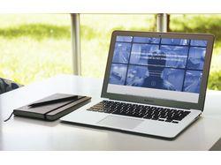 Дизайн сайта по установке оборудования видеонаблюд