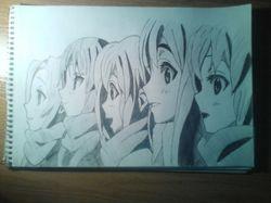 "Рисунок персонажей из аниме ""K-one"""