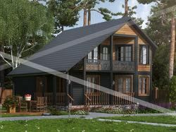Для сайта готовых проектов домов из клееного бруса