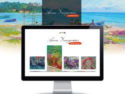 Дизайн сайта художницы