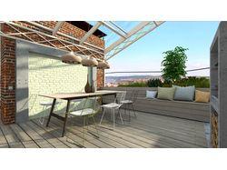 Дизайн террасы на крыше многоэтажного дома